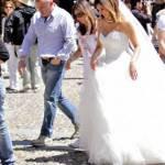MELISSA SATTA vestita da sposa