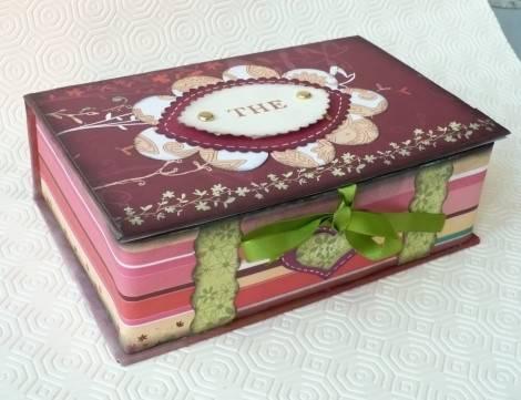Idee regalo scatola porta t - Porta tisane fai da te ...