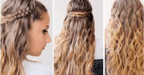 TUTORIAL ACCONCIATURA: capelli ondulati con doppia treccia ...