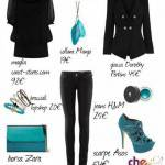 MA COME TI VESTO? Total black e accessori turchesi