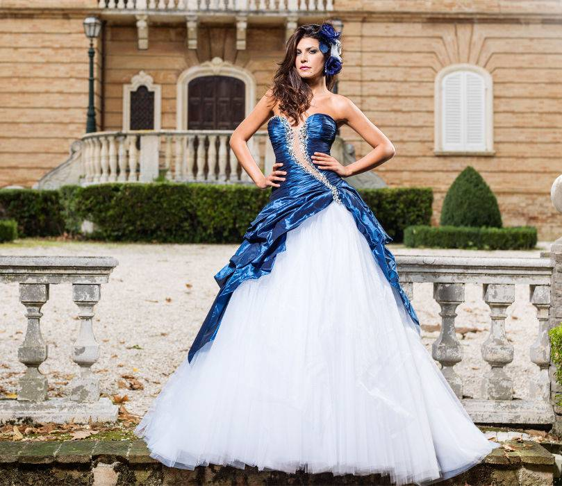 abiti sposa blu 2013. - CheDonna.it