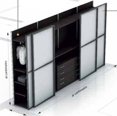 Arredamento: armadio scorrevole per risparmiare spazio