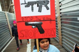 gettyimages Gun Control Activists March Across Brooklyn Bridge