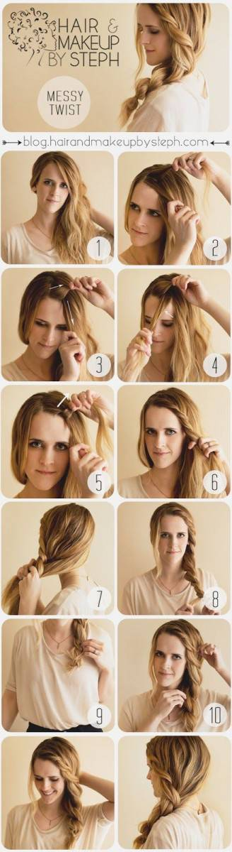 Favorito TUTORIAL FOTOGRAFICO CAPELLI: raccogliere i capelli in una treccia  UC83