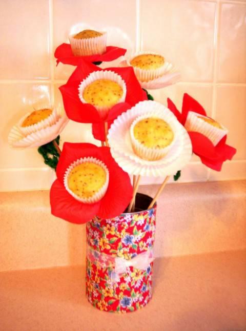 muffinbougquet e1334431834522 IDEE REGALO, festa della mamma: un bouquet di muffin