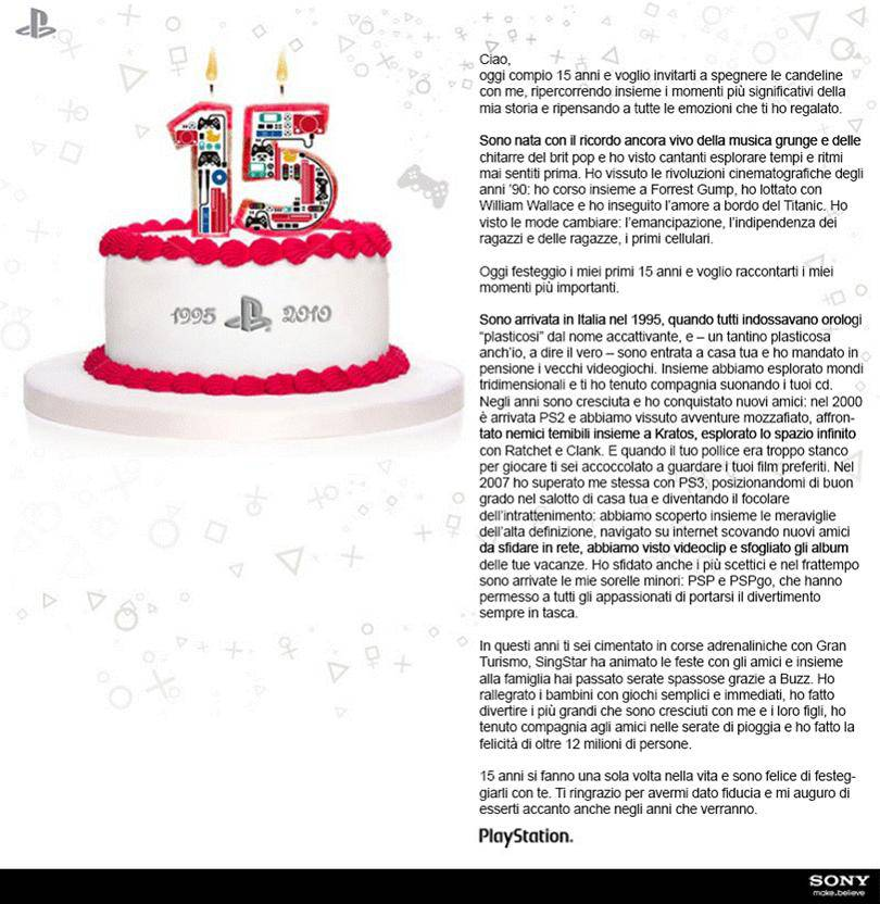 Fabuleux Buon compleanno Play Station! - CheDonna.it KH52