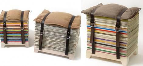 Idee arredamento una sedia con le vecchie riviste for Arredamento negozi fai da te idee